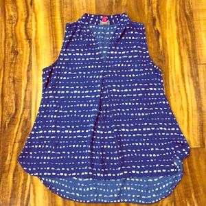 Vince Camuto pleated hi lo flowy tank size S